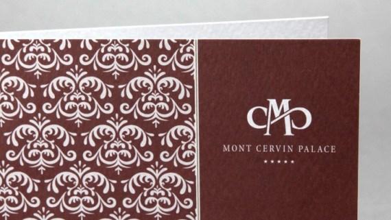Corporate Design Musteranwendung Hotel Mont Cervin Palace Zermatt von Werbeagentur Bern - Blitz & Donner