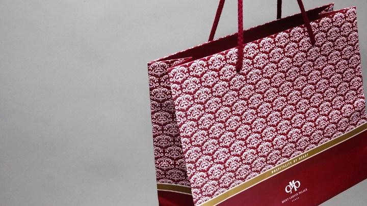 Corporate Design Geschenksack Hotel Mont Cervin Palace Zermatt von Werbeagentur Bern - Blitz & Donner