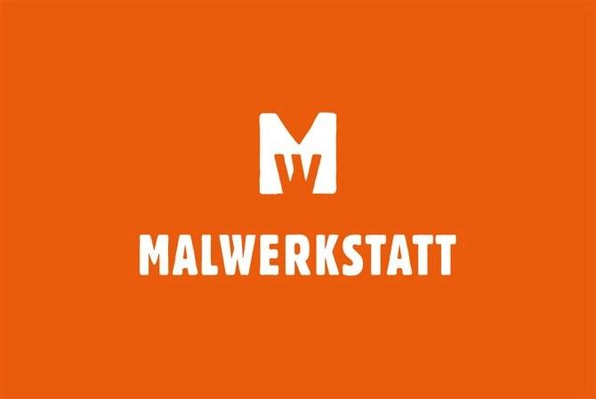 Malwerkstatt Bern Orange Visitenkarte von Werbeagentur Bern - Blitz & Donner
