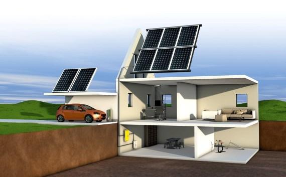 Werbeagentur Blitz & Donner Bern: 3D-Visualisierung Photovoltaik Einfamilienhaus.