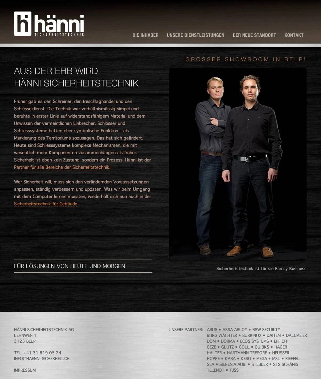 Website Hänni-Sicherheit