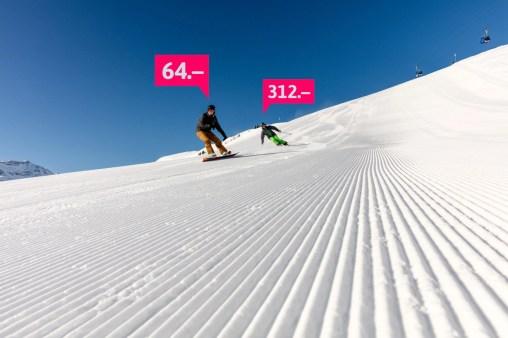 Snowboard Visual lenk-simmental.ch Winterspecial 17/18 Social-Media