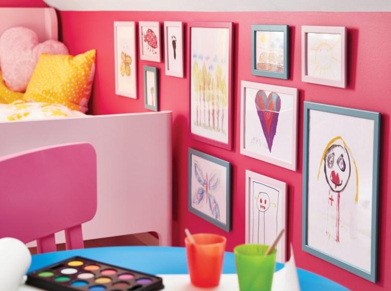 IKEA pink wall