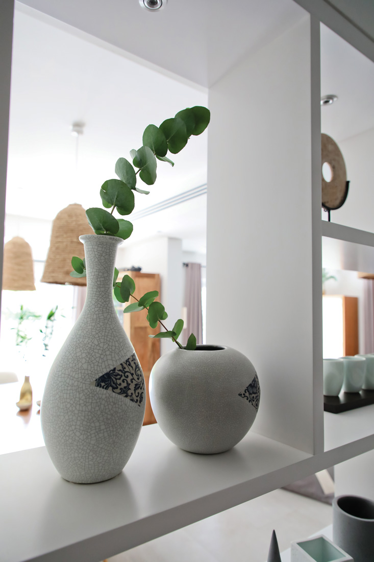 Shelf with plant pots
