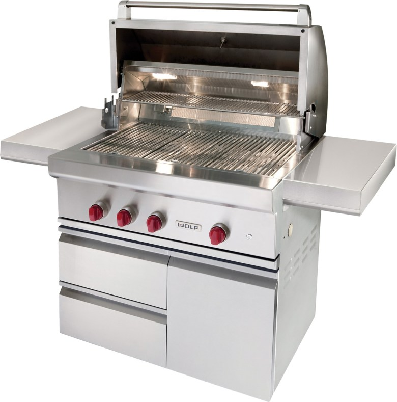 Wolf barbeque, stainless steel