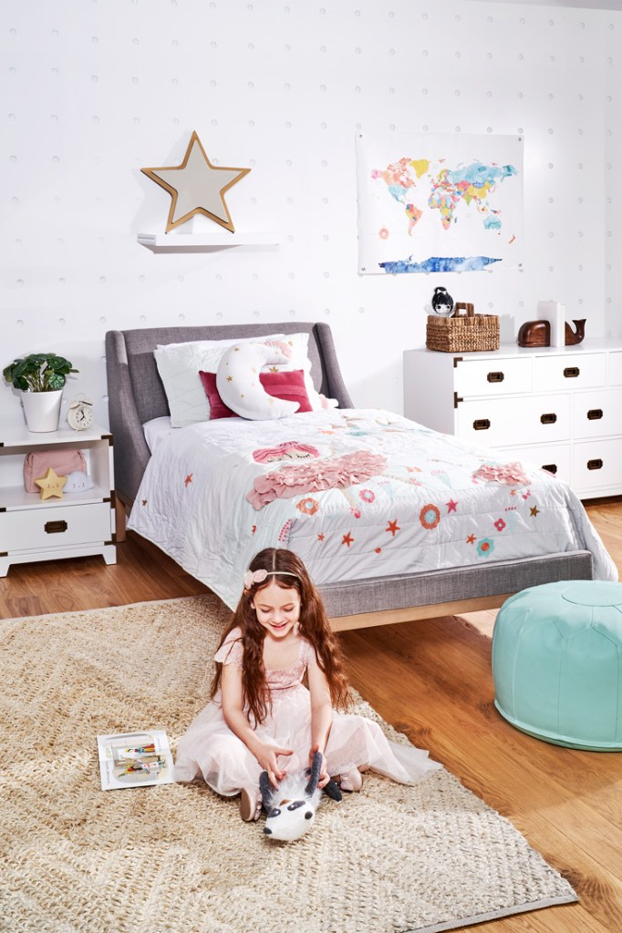 Crate and Kids ballerina style kids' bedroom