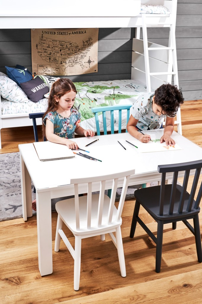Crate and Kids study desk and chairs
