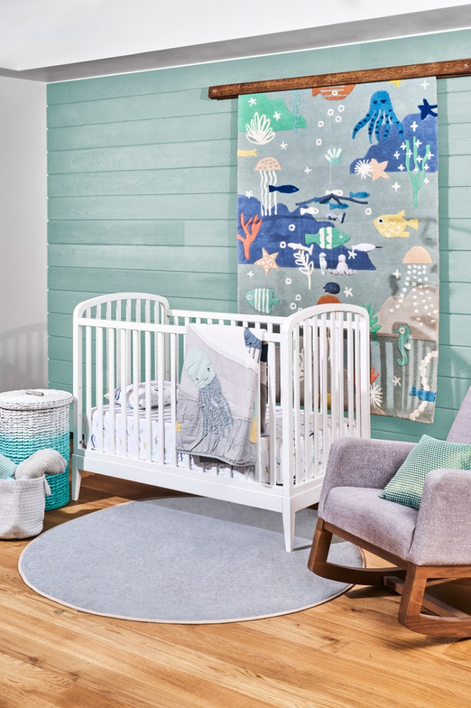 Crate and Kids under the sea styled baby bedroom