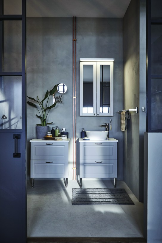 IKEA grey bathroom
