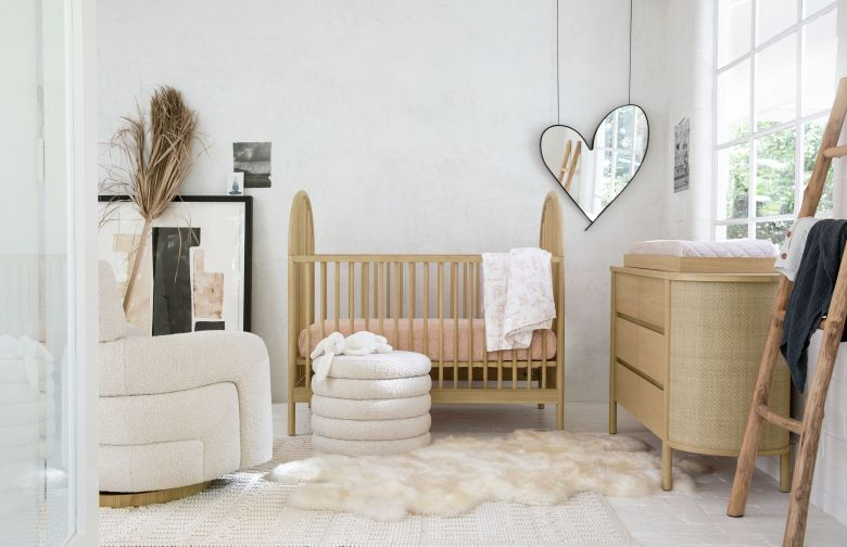 A neutral nursery by Crate and Barrel