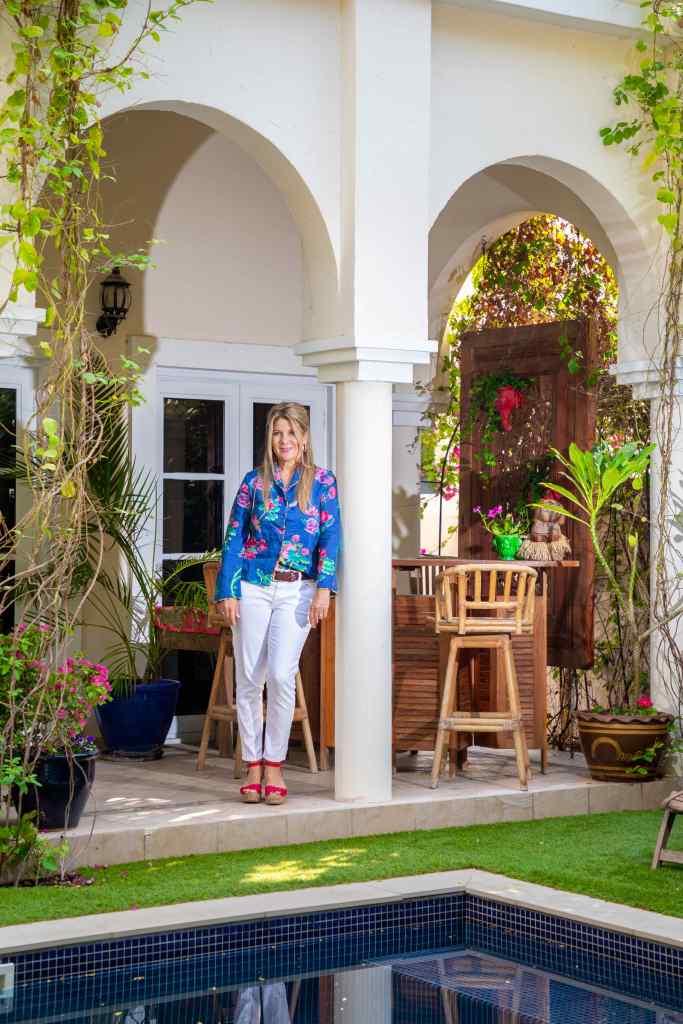 Jennie in her garden