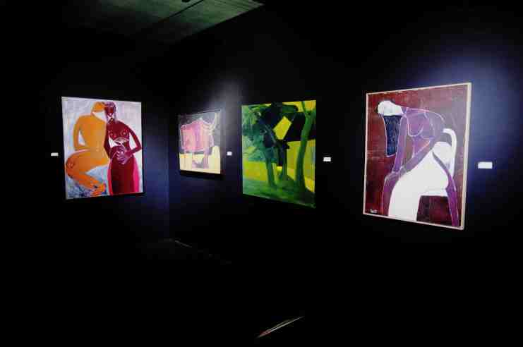 artworks from one of Lan's exhibitions