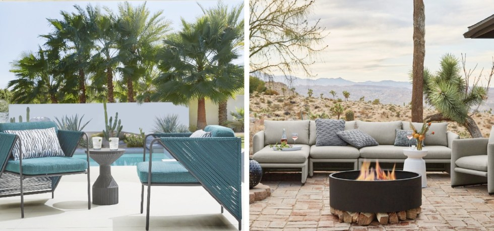 Crate and Barrel outdoor furniture promo