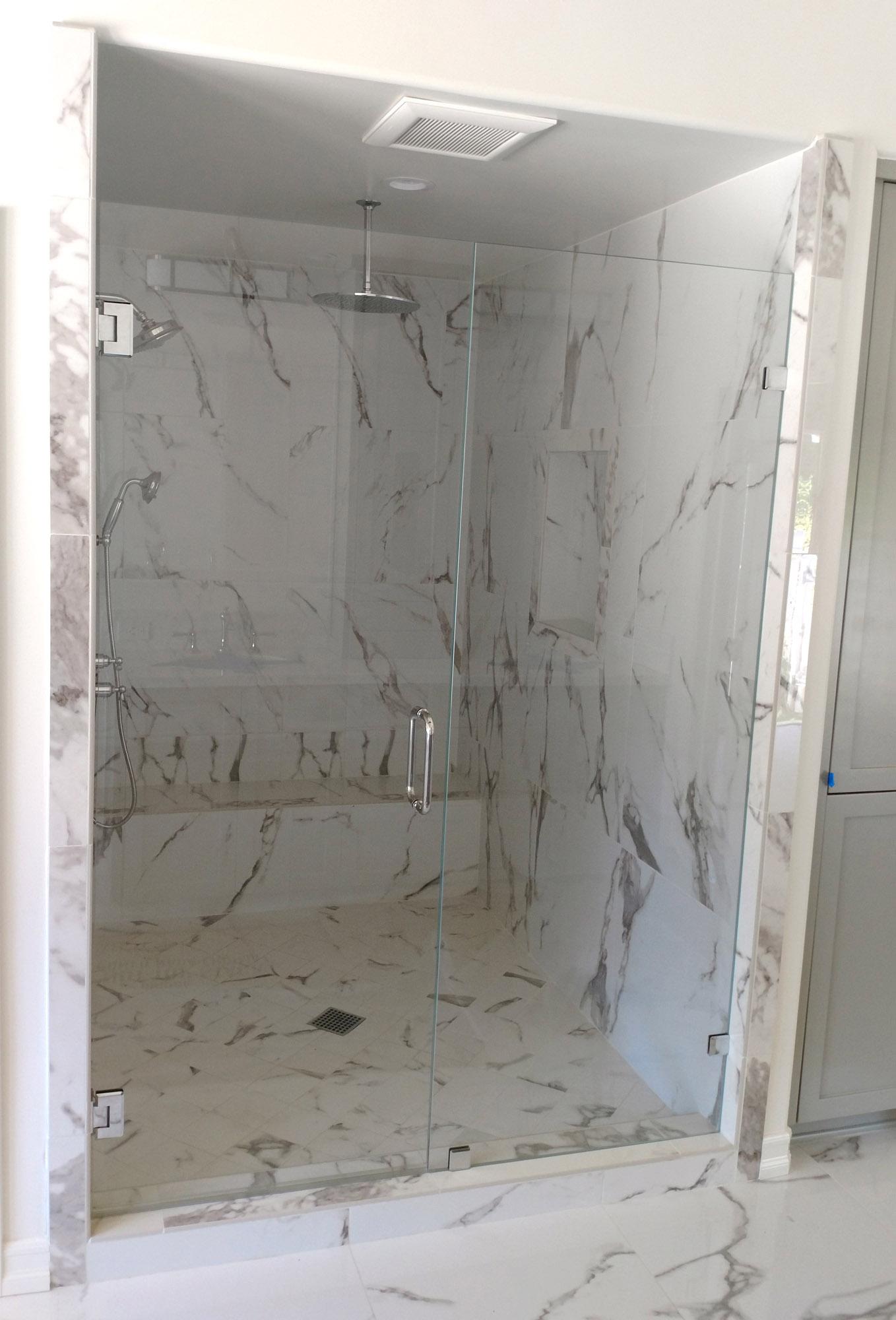 Inline Shower Door Gallery Blizzard Frameless