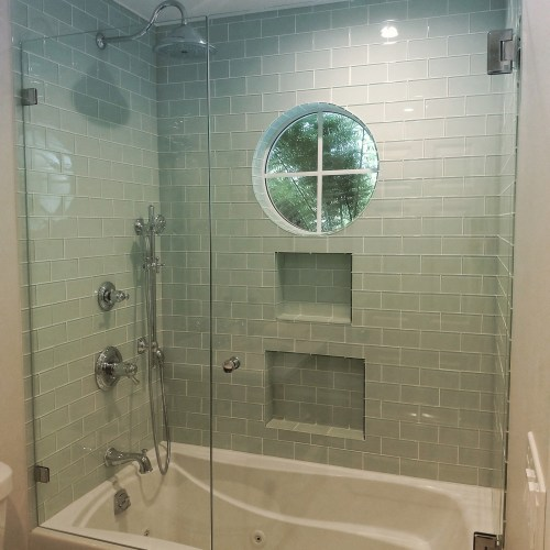 Inline With Tub 2 By Blizzard Frameless Showers