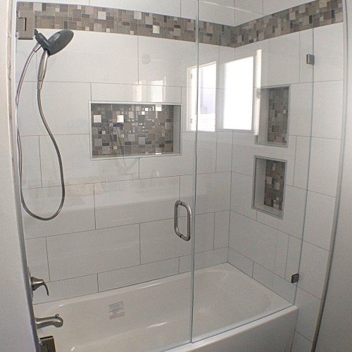 Inline With Tub 3 By Blizzard Frameless Showers