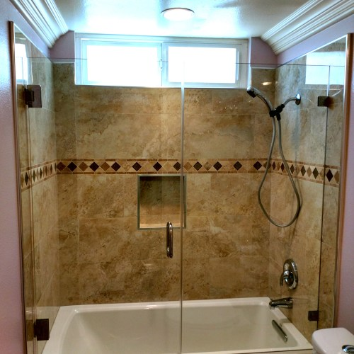 Inline With Tub 6 By Blizzard Frameless Showers