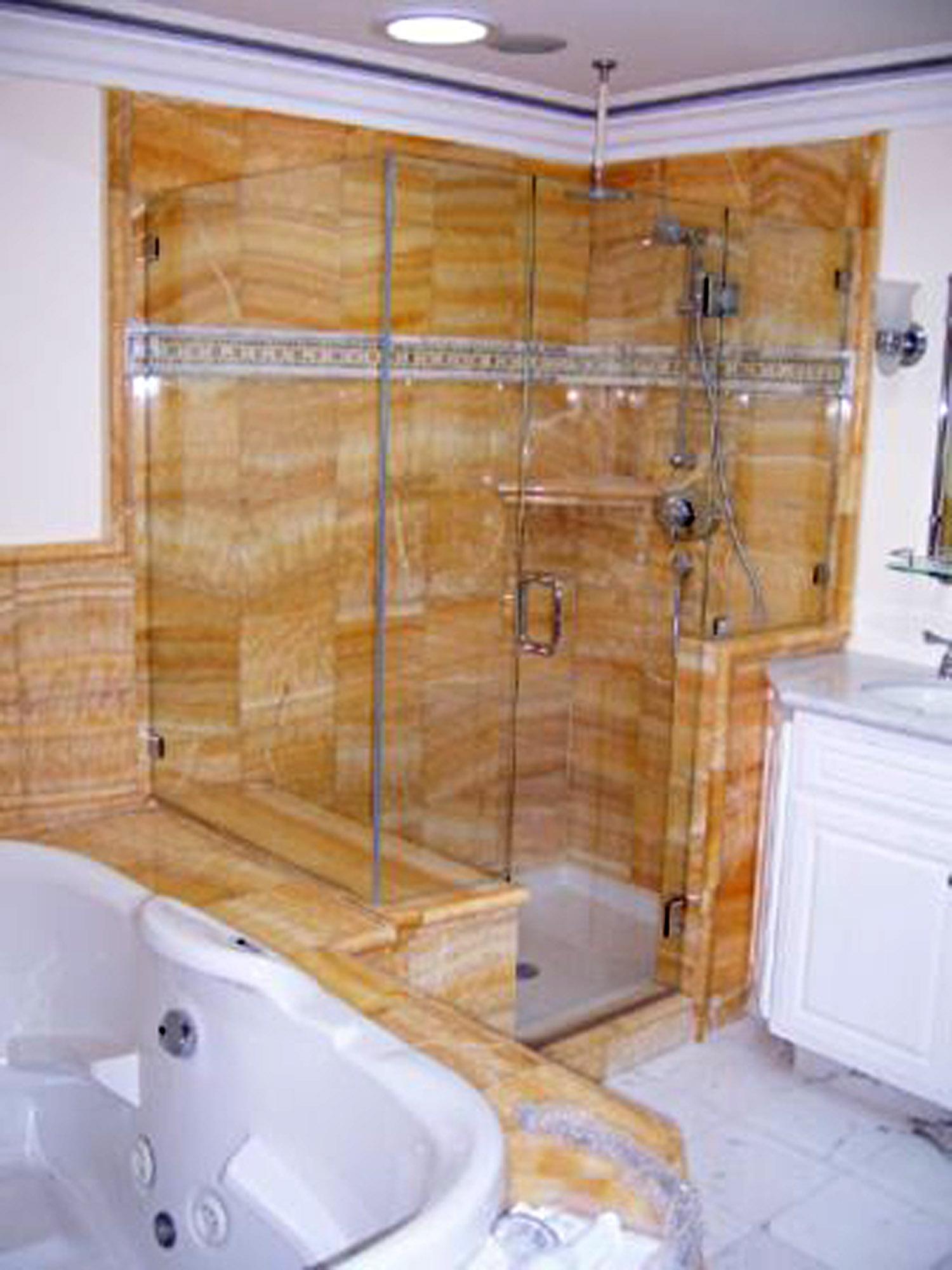 90 Degree Shower Door Gallery – Blizzard Frameless