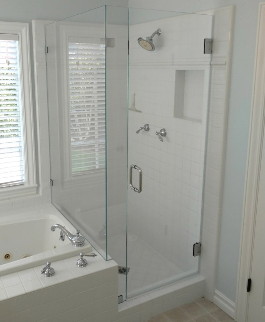 hinged phoenix p shower door frameless asp