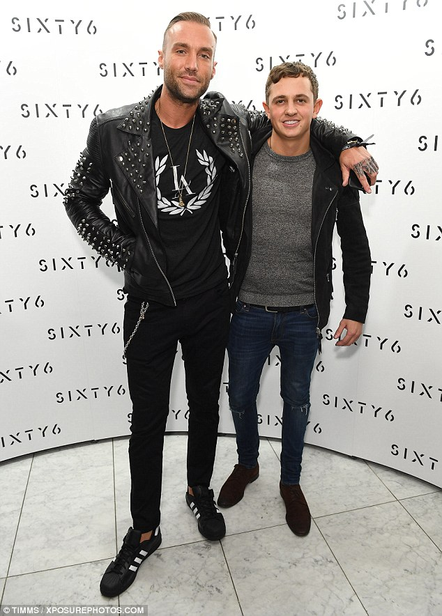 Double trouble: Calum Best hung out with Gary Lineker's son George