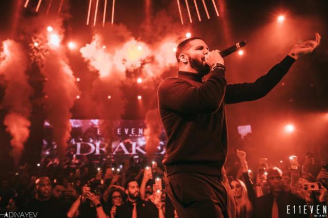 Drake at E11EVEN MIAMI - credit ADINAYEV