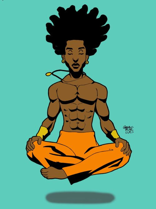 black yoga cartoon markus prime
