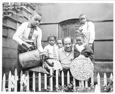 langston hughes and children's garden harlem 1955