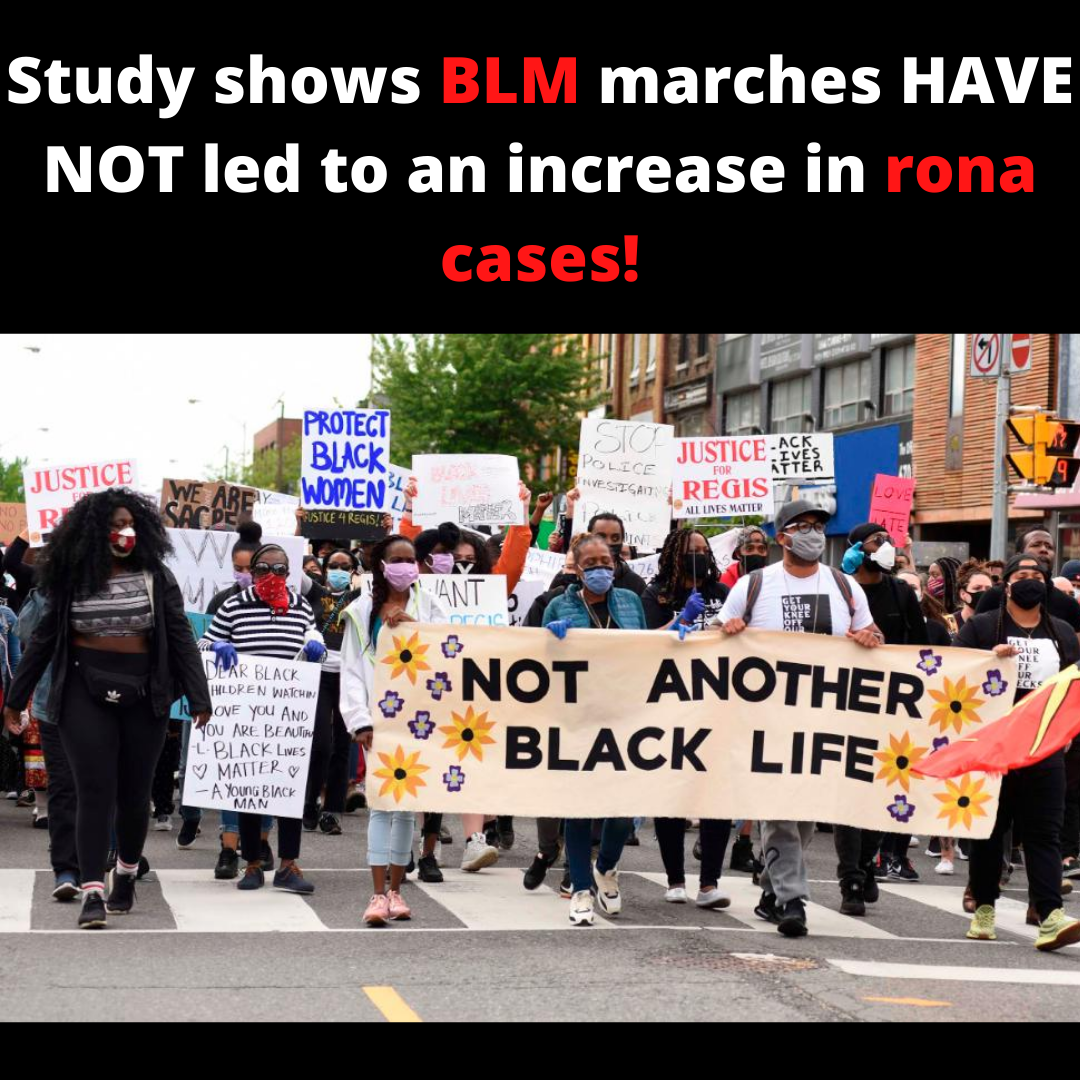 BLM Protests HAVE NOT led to an increase in Rona cases