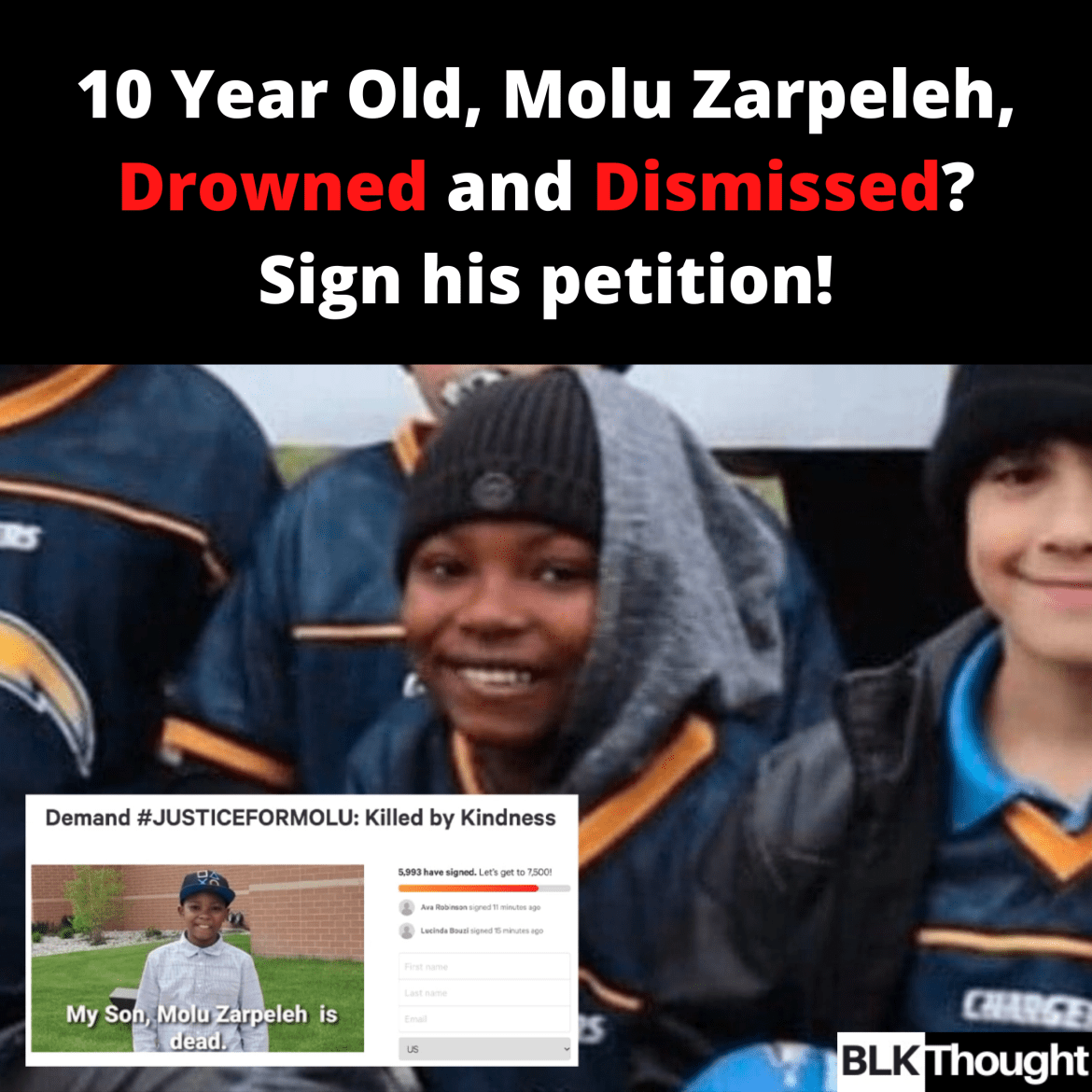 10 Year Old, Molu Zarpeleh, Drowned and Dismissed?