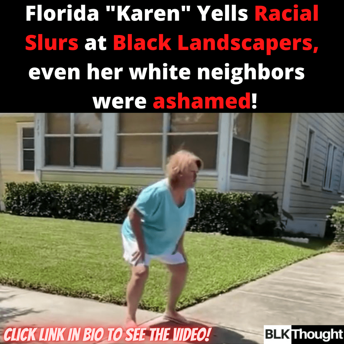 Old White Lady Yells Racial Slurs at Black Landscapers
