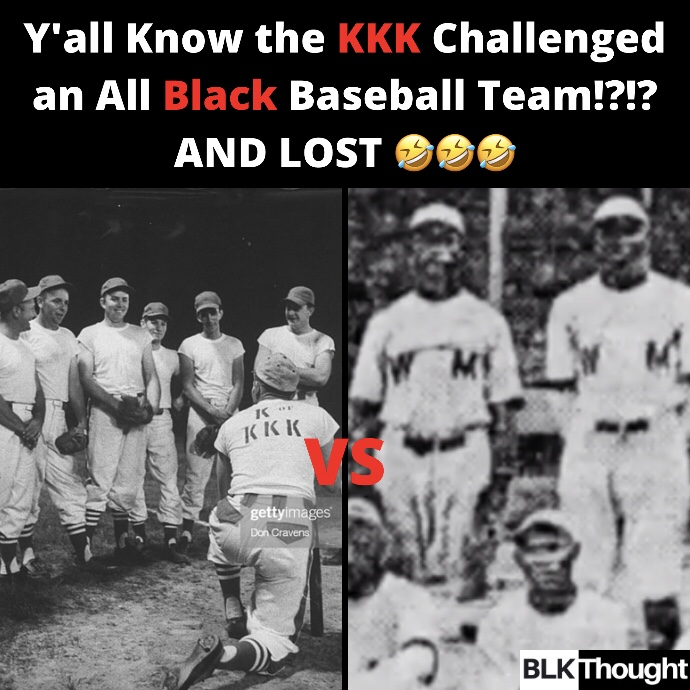 KKK VS All Black Baseball Team! The Game of 1925