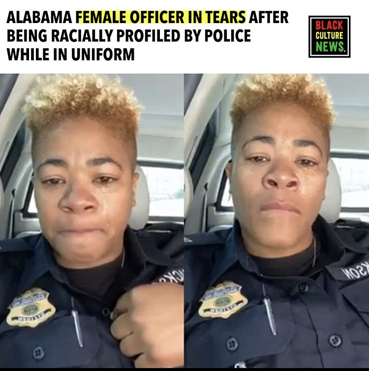 Officer Cries After Being Racially Profiled in Uniform