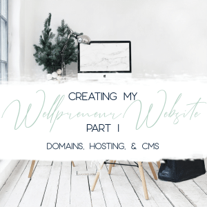 creating my wellpreneur website part 1 domains hosting and CMS