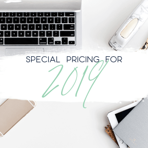 special pricing for 2019
