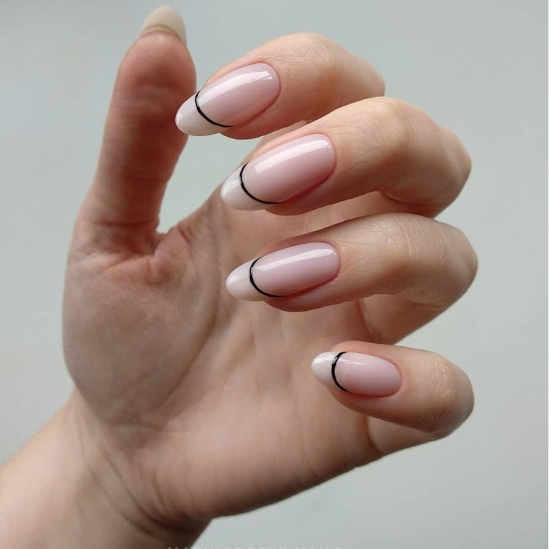 Minimalist French Manicure by @marinadobyk.nails
