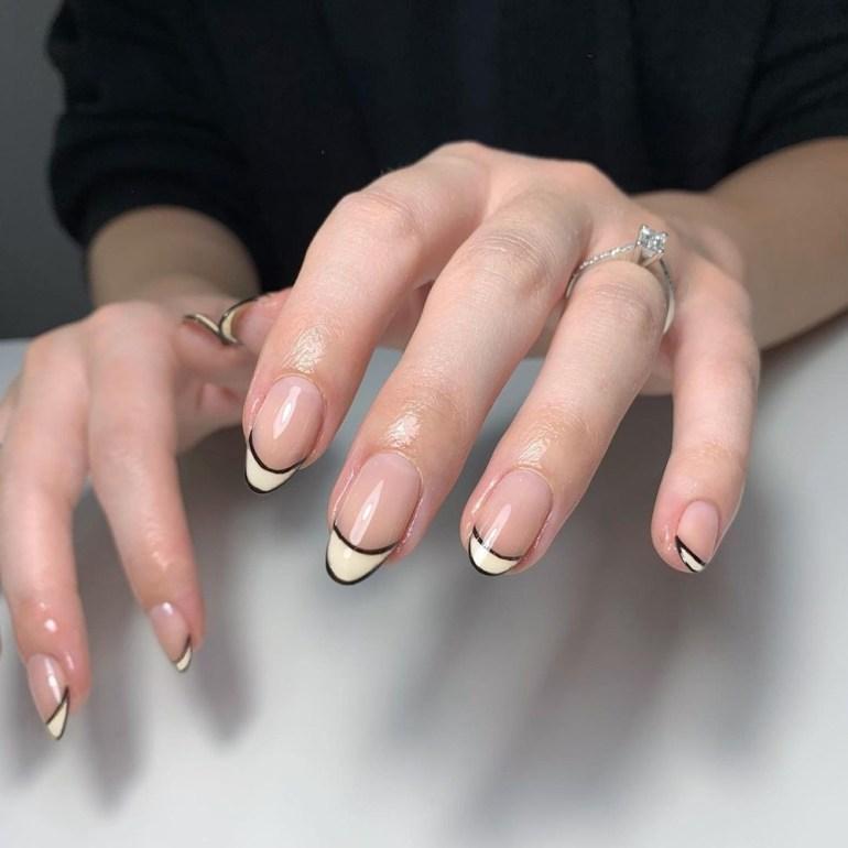 Minimalist French Manicure Nails by rosetuckerbeauty