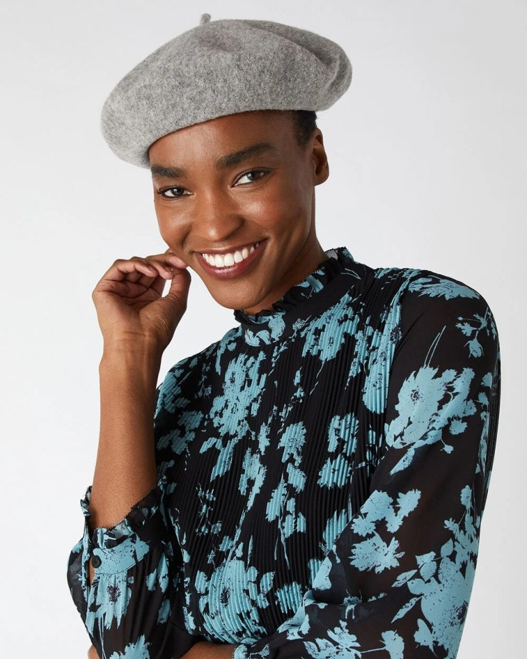 The Best Berets: Accessorize Pure Wool Beret in Grey