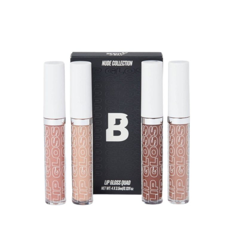 By Beauty Bay Nude Collection Lip Gloss Quad