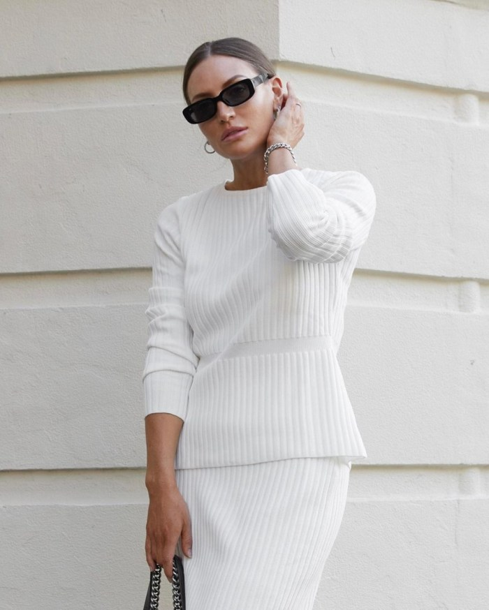Spring 2021 Knitwear | Model & Digital Creator Aymie Cahill serves up minimalism for Spring