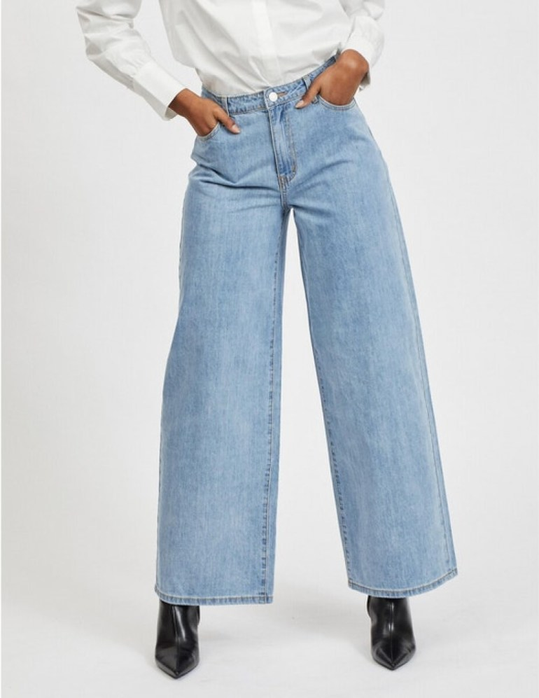Vila Wide Leg Jeans with High Waist