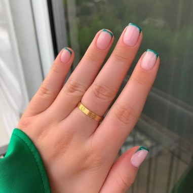 Emerald Micro French Tips by Faye Louise Dennis