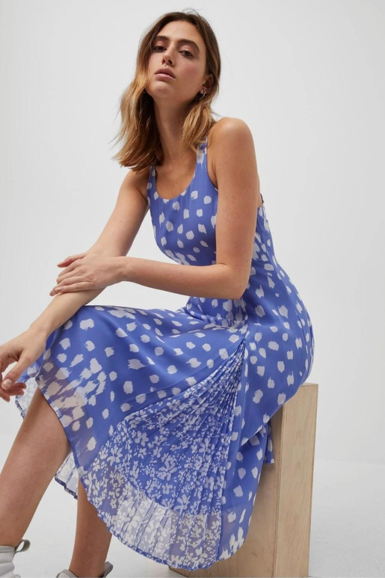 French Connection Lynx Mix Print Georgette Dress
