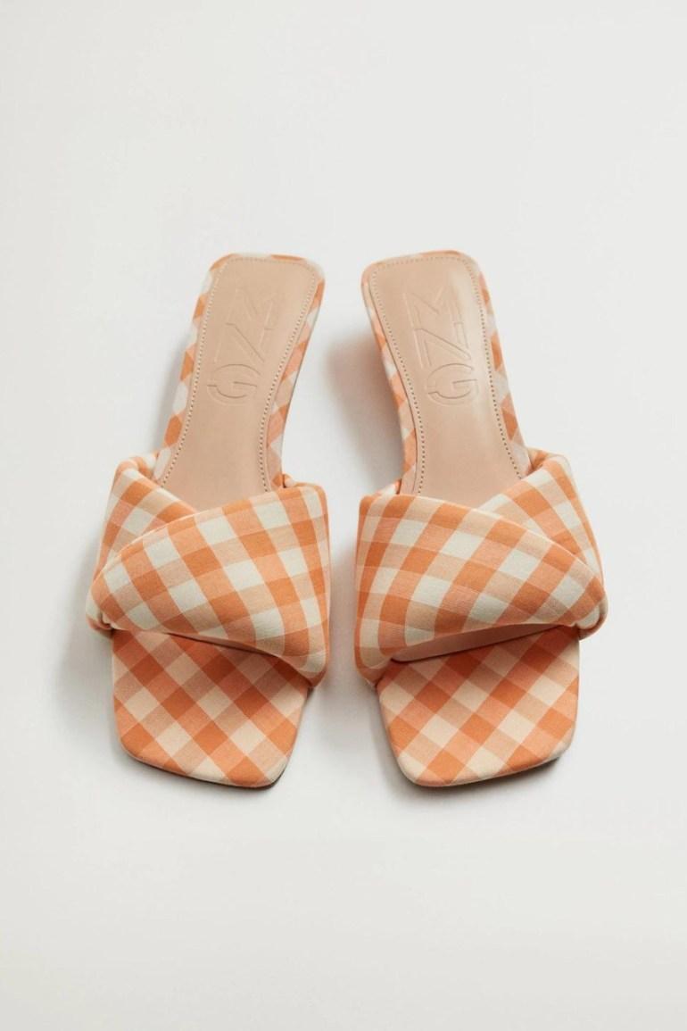 Mango Gingham Vichy Sandals