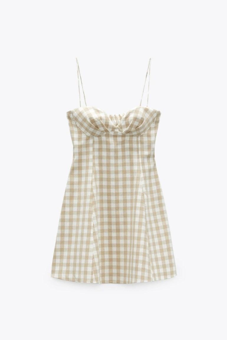 ZARA Gingham Check Dress