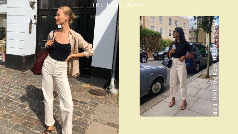 Where to shop the best ecru jeans