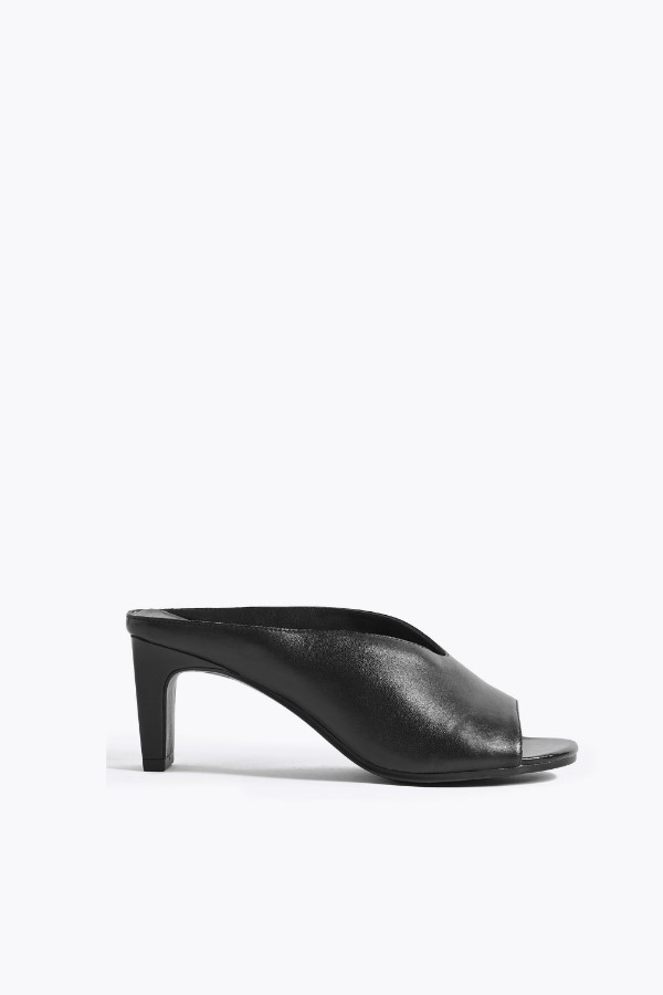 M&S Collection Leather Open Toe Mules