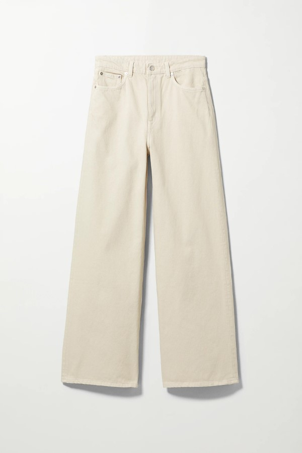 Weekday Ace HighShop the Wide Jeans - Tinted Ecru