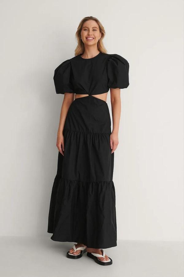 NA-KD Cut Out Maxi Dress