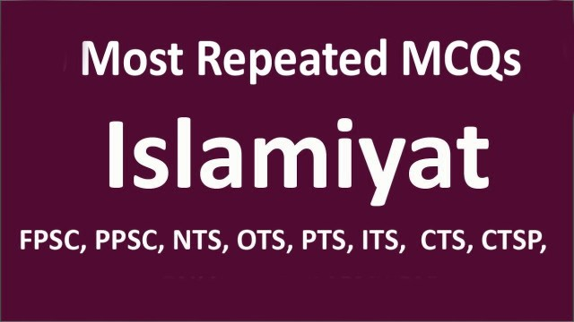 Most Repeated Islamic MCQs