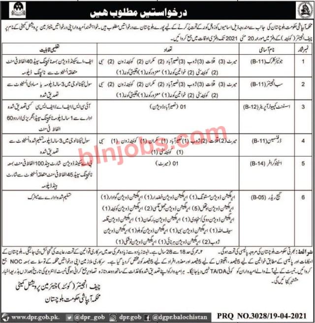 Irrigation Department Balochistan Jobs 2021